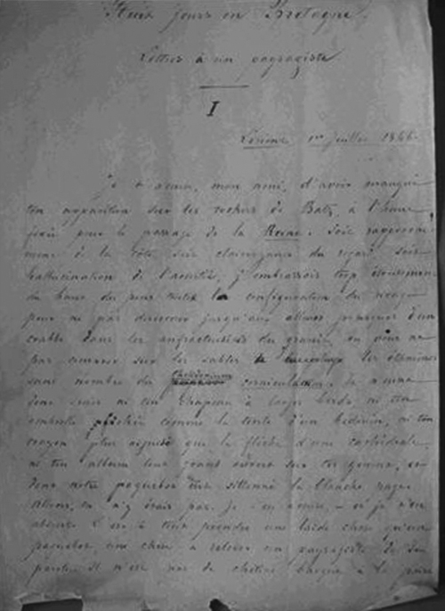Manuscrit de Victor Pavie